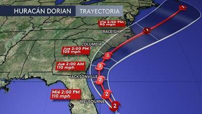 El más reciente reporte del Centro Nacional de Huracanes del 3 de septiembre sobre el huracán Dorian