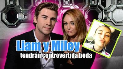 ¿En serio? El tema central de la boda de Miley Cyrus y Liam Hemsworth, ¡la marihuana!