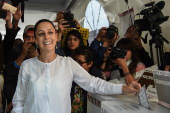 En fotos: Claudia Sheinbaum será la próxima jefa de gobierno de Ciudad de México, según los primeros sondeos