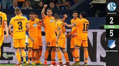 Festín de goles del Hoffenheim en visita al Schalke