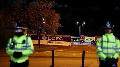 Una cámara de seguridad tomó el momento del accidente del helicóptero del presidente del Leicester