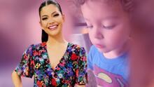 Crece la familia de Ana Patricia y su hijo Gael les echa la bendición