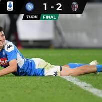 Con el 'Chucky' 82 minutos, Napoli cayó en casa ante Bolonia