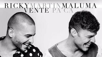 Ricky Martin y Maluma anuncian lanzamiento de su canción 'Vente Pa Ca'