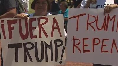 Realizan manifestación en Houston en apoyo a la comunidad de El Paso y en contra de la retórica antiinmigrante de Trump