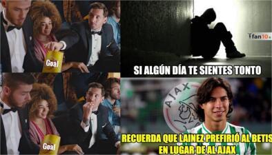 Memes de Barcelona, Cristiano y hasta de Lainez en los Cuartos de Final de la Champions League