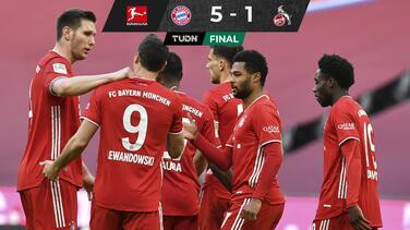 Con dobletes de Lewandowski y Gnabry, Bayern vence al Colonia