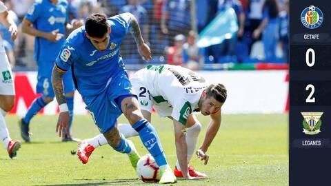 Sin Diego Reyes el Leganés se lleva el derbi del sur de Madrid ante el Getafe