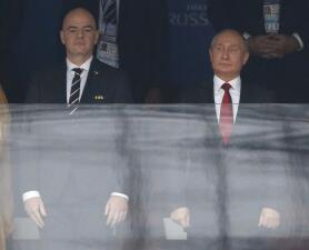 Campeones del mundo y políticos presentes en el partido inaugural de Rusia 2018