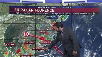 Florence avanza con fuerza hacia la costa este EEUU