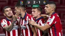 Atlético de Madrid vence a la Real Sociedad y camina firme hacia el título