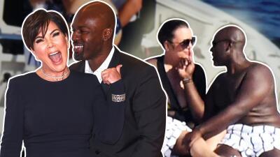 El novio de Kris Jenner (25 años menor) no le quita las manos ni los labios de encima