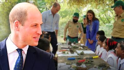 El príncipe William cuenta en Pakistán que su sueño siempre fue volar y ser libre