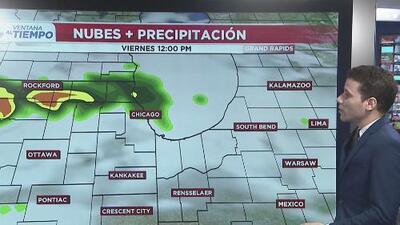 Riesgo de tiempo severo en Chicago: fuertes lluvias, tormentas y cielos nublados para este viernes