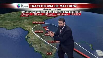 El tiempo: Matthew en la Florida y frente frío en DFW