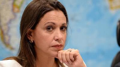 """Maria Corina Machado: """"Toda Venezuela y el mundo sabe que esto es una patraña"""""""