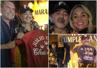Banquete, música en vivo y baile: así fue la celebración del cumpleaños de Diego Maradona
