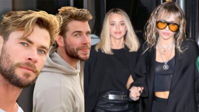 Mientras Miley Cyrus se muestra muy unida a Kaitlynn Carter, Liam Hemsworth se refugia en su familia