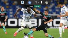 Napoli detiene racha de victorias del Inter en la Serie A