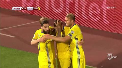 Goooolll!! Marcus Berg mete el balón y marca para Sweden
