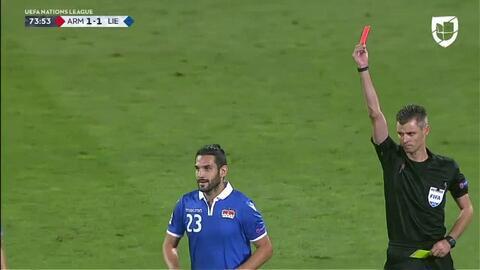 ¡Tarjeta Roja! Michele Polverino recibe la segunda amarilla y se va del juego