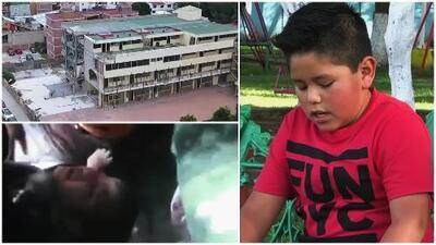 Niño sobreviviente del terremoto de 2017 en México recuerda lo que vivió en el Colegio Rébsamen