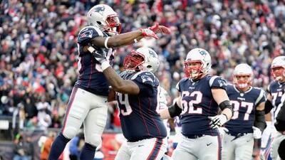 Patriots aplastaron a Bills y mantienen sembrado #1 en la AFC