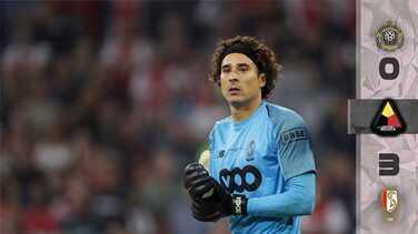 Con 'Memo' Ochoa en el arco, Standard goleó 0-3 al Lokeren