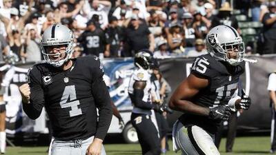Raiders 37-33 Ravens: Derek Carr tuvo la mejor actuación de su joven carrera