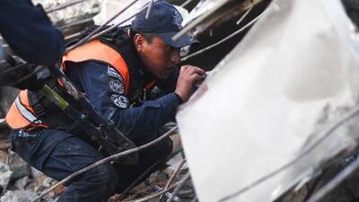 Impactantes imágenes de rescates tras el terremoto que sacudió a México