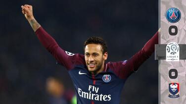 3-0: No hubo rival para un PSG que, con gol de Neymar incluido, superó sin problemas al Caen