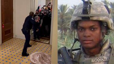 Este policía distrajo a la turba que arremetió en el Congreso, y ahora legisladores quieren darle una prestigiosa medalla