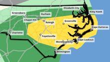 Tormentas: área central de Carolina del Norte está bajo riesgo de tiempo severo