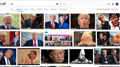 Detractores del presidente han logrado que si se escribe en Google la palabra 'idiota' aparezca la imagen de Trump