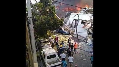 Fuerte explosión causa pánico en el centro de Santo Domingo en República Dominicana
