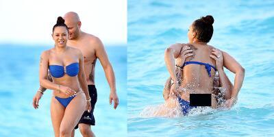 Mel B, la ex Spice Girl, traicionada por su bikini y expone sus encantos