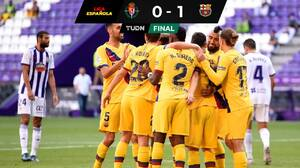 Con un gol de Arturo Vidal, Barcelona venció con lo justo al Valladolid