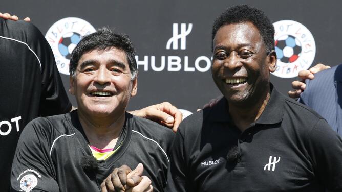 Pelé pudo fichar a Maradona para el Santos de Brasil