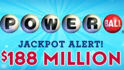 Hay ganador de 188 millones del Powerball