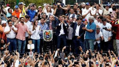 Así vivió la comunidad venezolana en Florida el esperado regreso de Juan Guaidó a su país