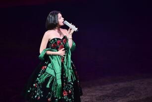LOS ANGELES, CALIFORNIA - JUNE 08: Angela Aguilar performs at Pepe Aguilar Y Familia Presentan Jaripeo Sin Frontera 2019 at Staples Center on June 08, 2019 in Los Angeles, California. (Photo by Alberto E. Rodriguez/Getty Images)