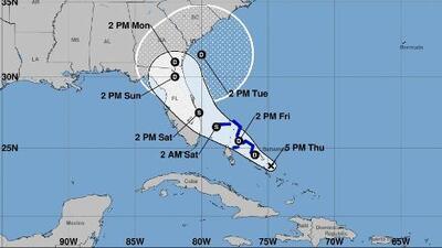 Emiten alerta de tormenta tropical para el noroeste de las Bahamas