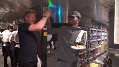 Gordon Ramsay teaches Lil Nas X how to make the perfect panini