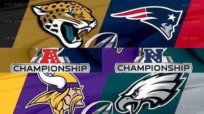 Listas las Finales de Conferencia de la NFL, la antesala del Super Bowl