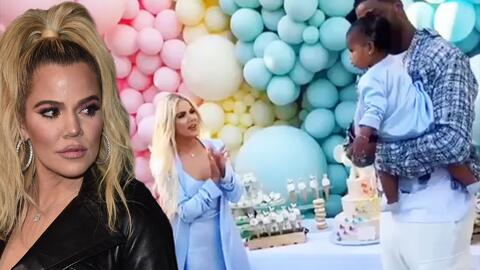 Mira cómo Khloé Kardashian ignoró al 'infiel' Tristan Thompson en el cumpleaños de baby True