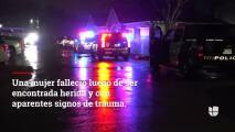 Una mujer muere afuera de un complejo de apartamentos en Haltom City