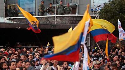 La oposición ecuatoriana salió a las calles para rechazar los resultados de las elecciones presidenciales