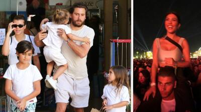 Kourtney Kardashian se va de 'party' y su ex Scott Disick no parece disfrutarlo