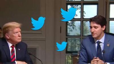 Trump continúa peleando en Twitter con miembros del G-7