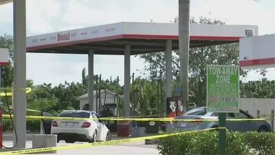 Investigan tiroteo que dejó dos personas baleadas en una estación de gasolina de Miami-Dade